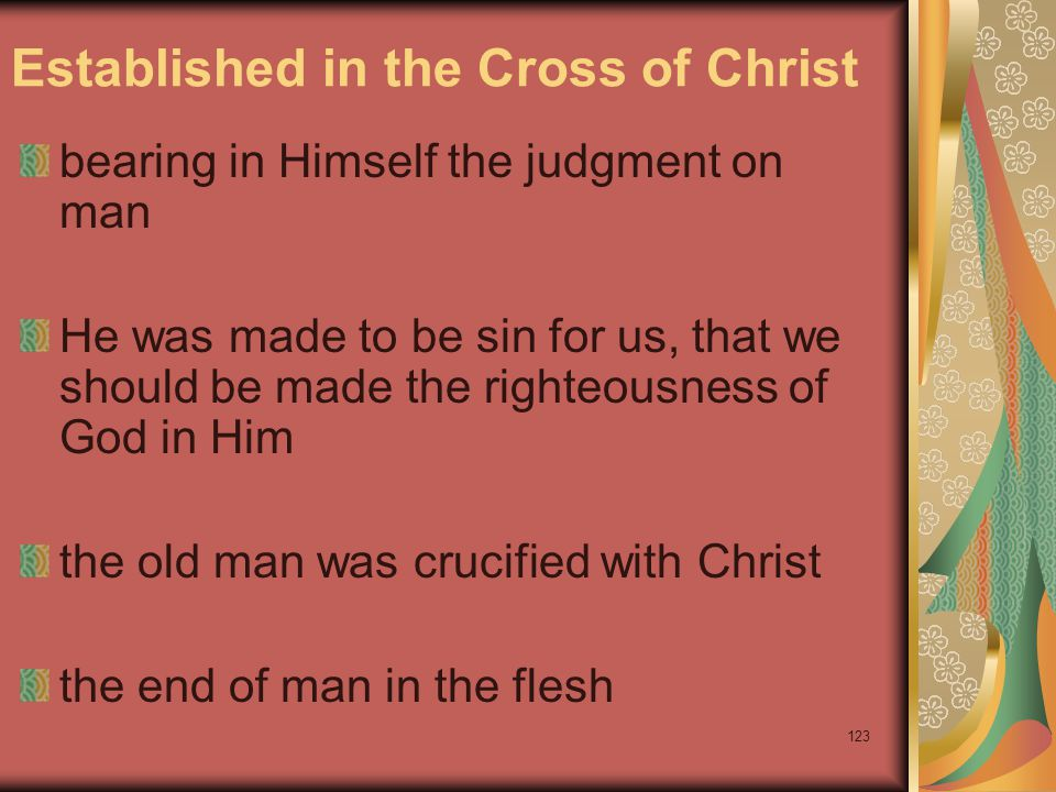 Established in the Cross of Christ