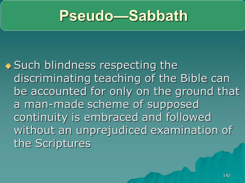 Pseudo—Sabbath