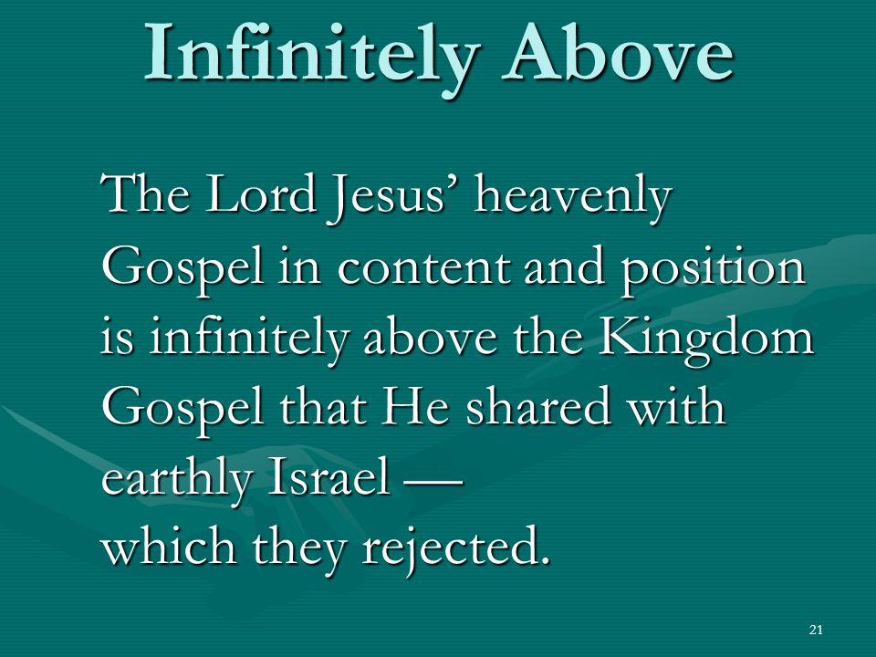 Infinitely Above