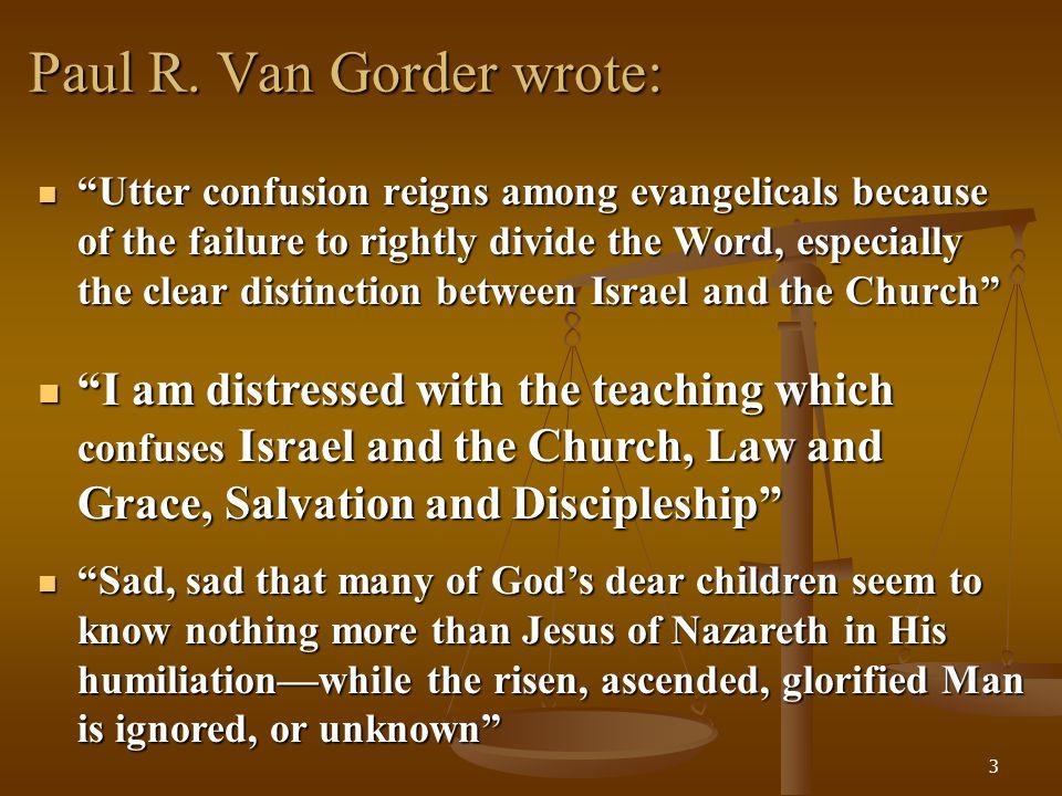 Paul R. Van Gorder wrote:
