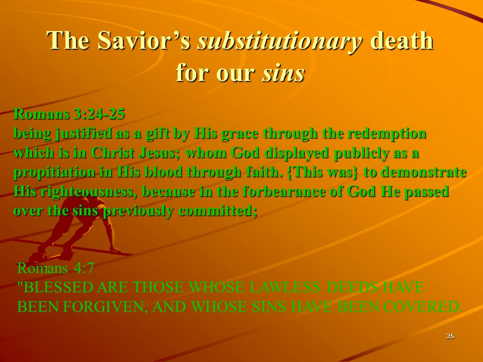 The Savior's substitutionary death for our sins