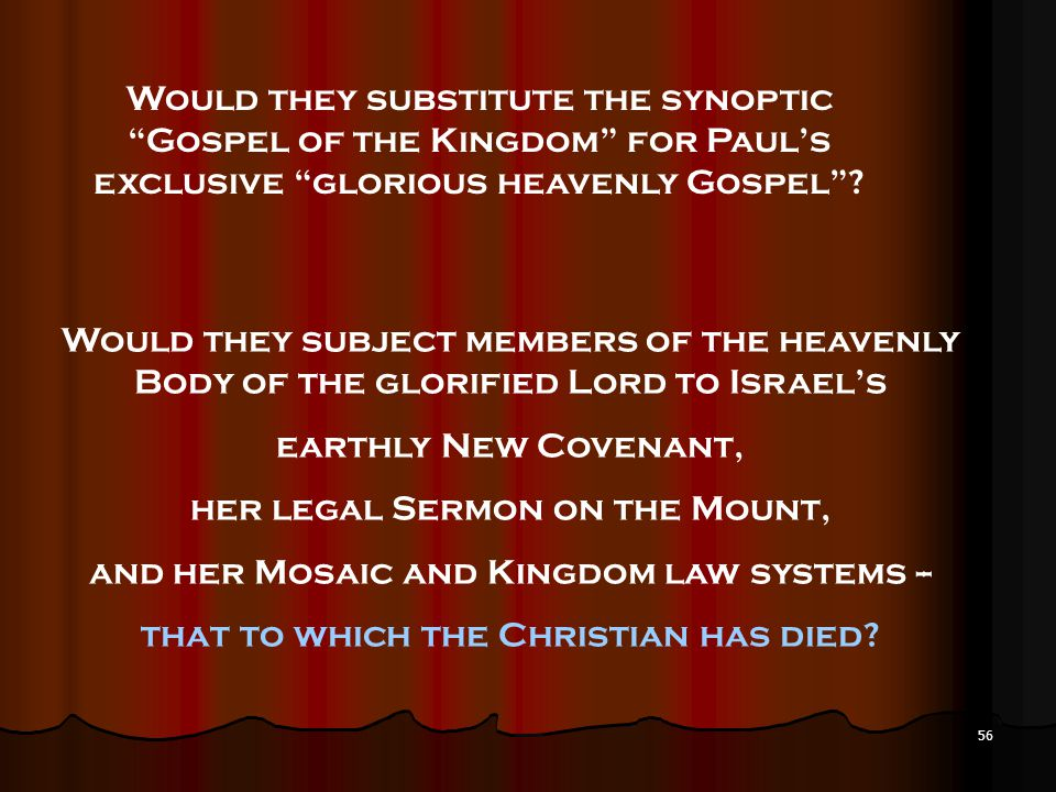 her legal Sermon on the Mount,