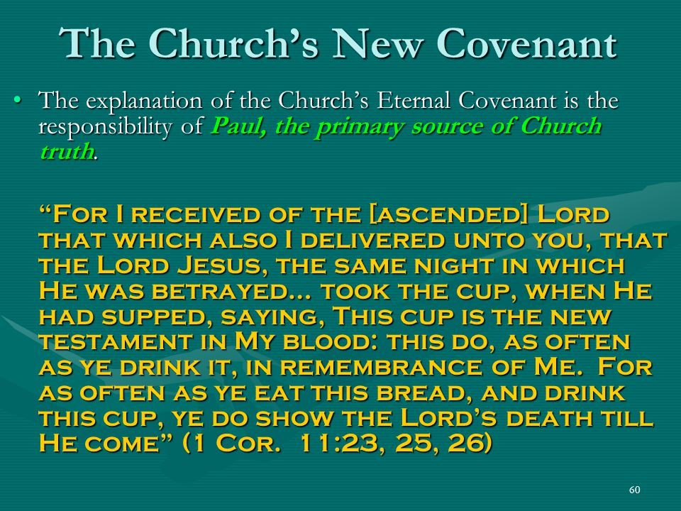 The Church's New Covenant