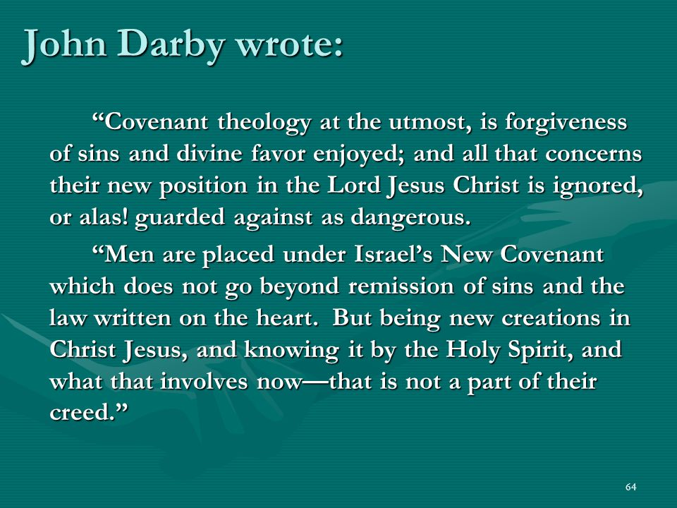 John Darby wrote: