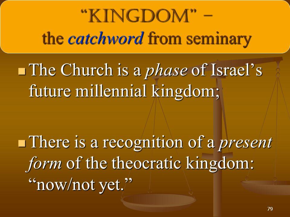 KINGDOM – the catchword from seminary