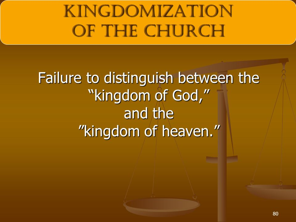 kingdomization of the Church