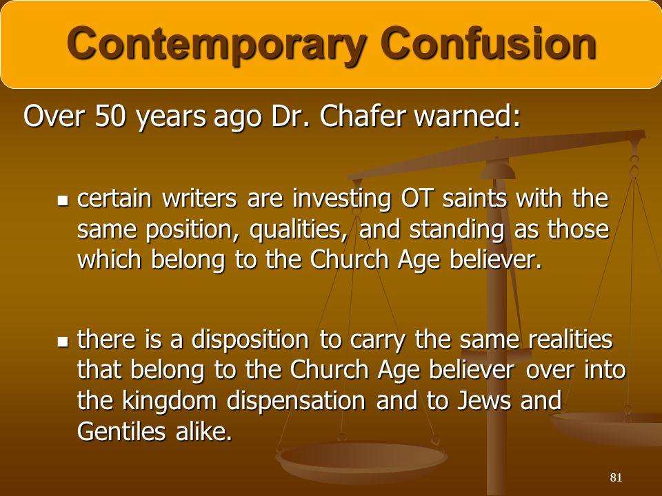 Contemporary Confusion