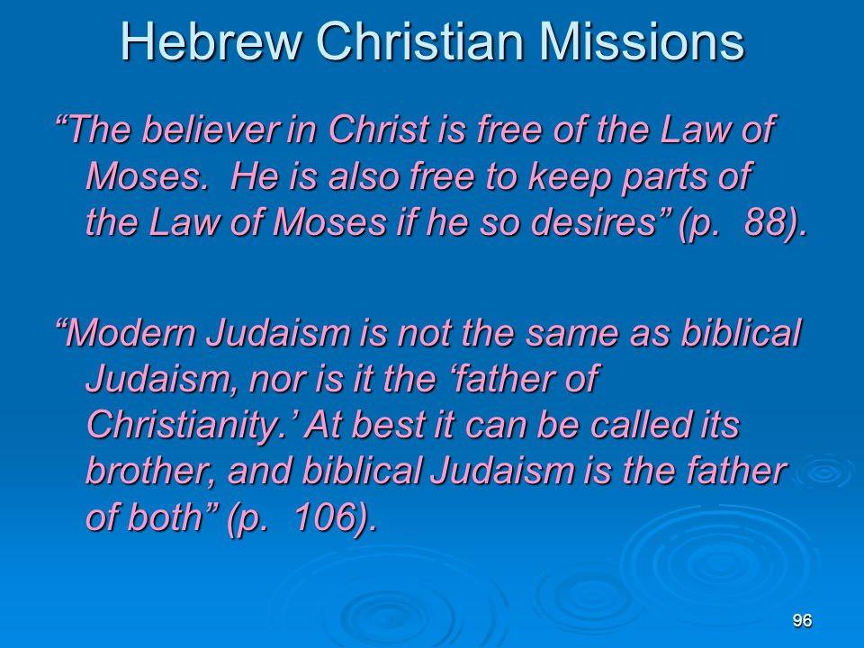 Hebrew Christian Missions