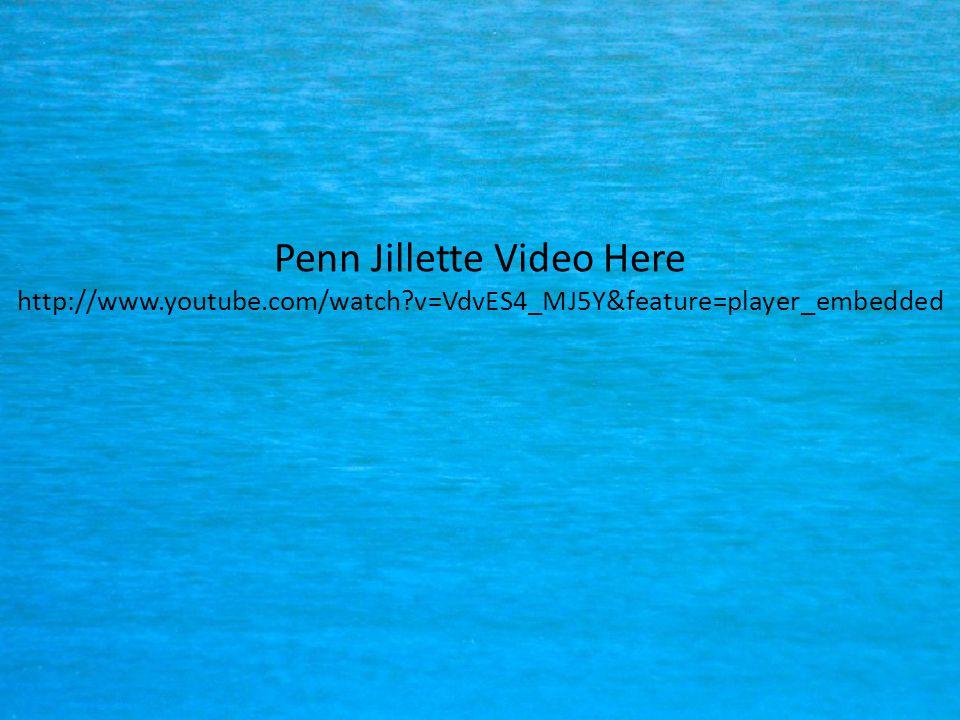 Penn Jillette Video Here http://www. youtube. com/watch
