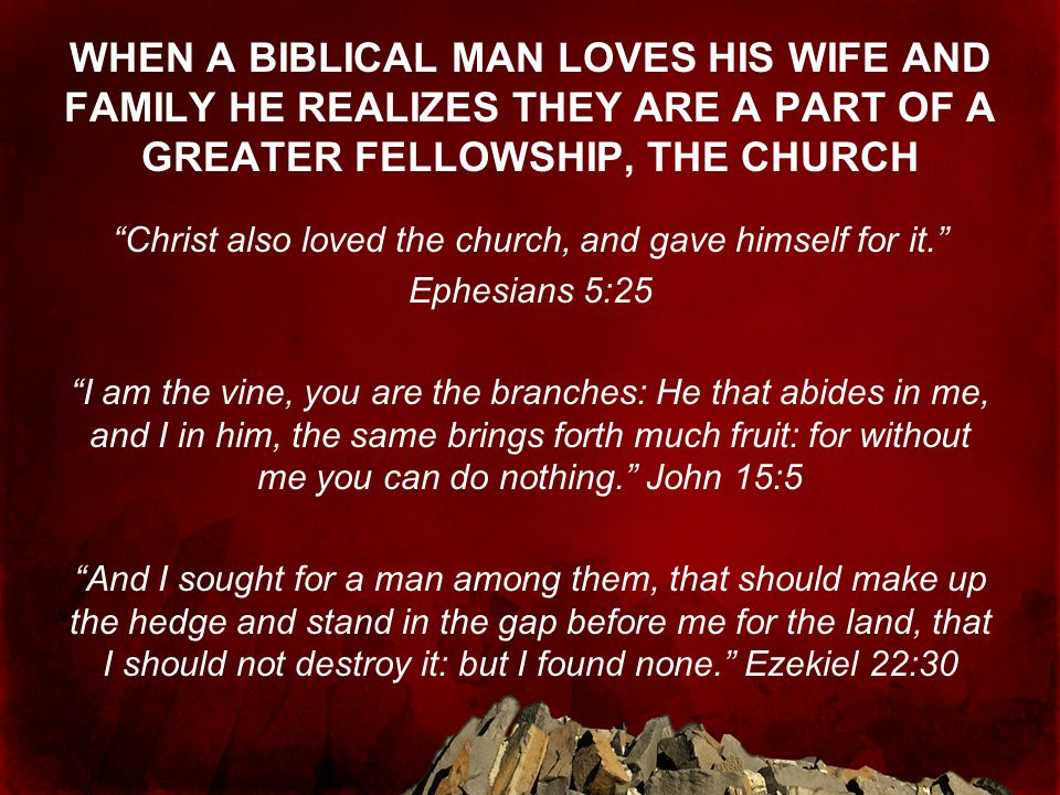 Christ also loved the church, and gave himself for it.