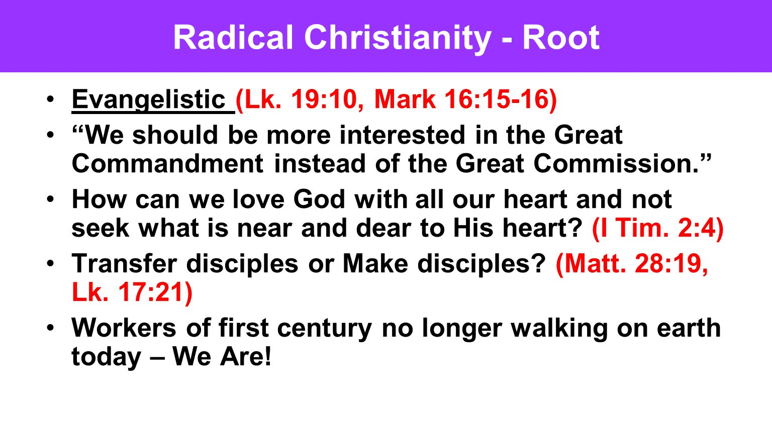 Radical Christianity - Root