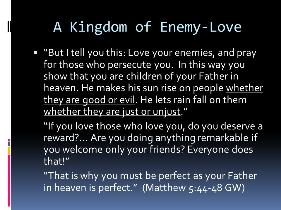 A Kingdom of Enemy-Love