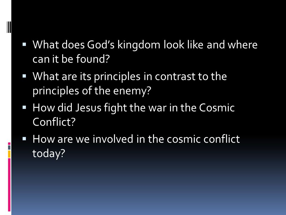 What does God's kingdom look like and where can it be found