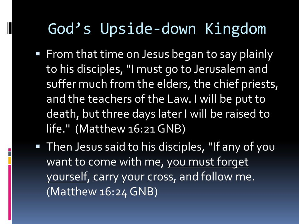 God's Upside-down Kingdom