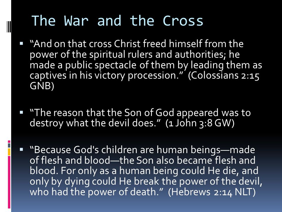 The War and the Cross