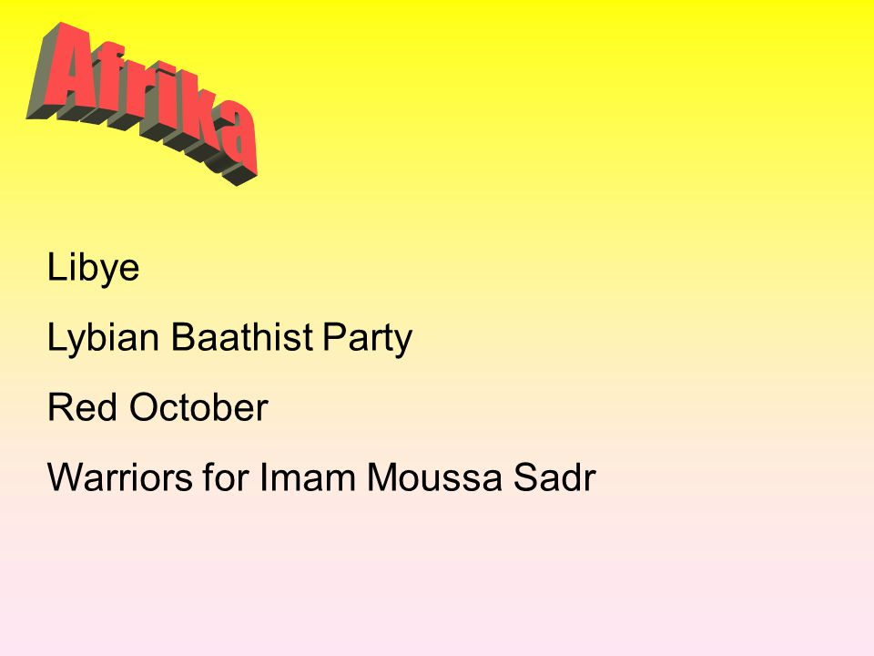 Afrika Libye Lybian Baathist Party Red October