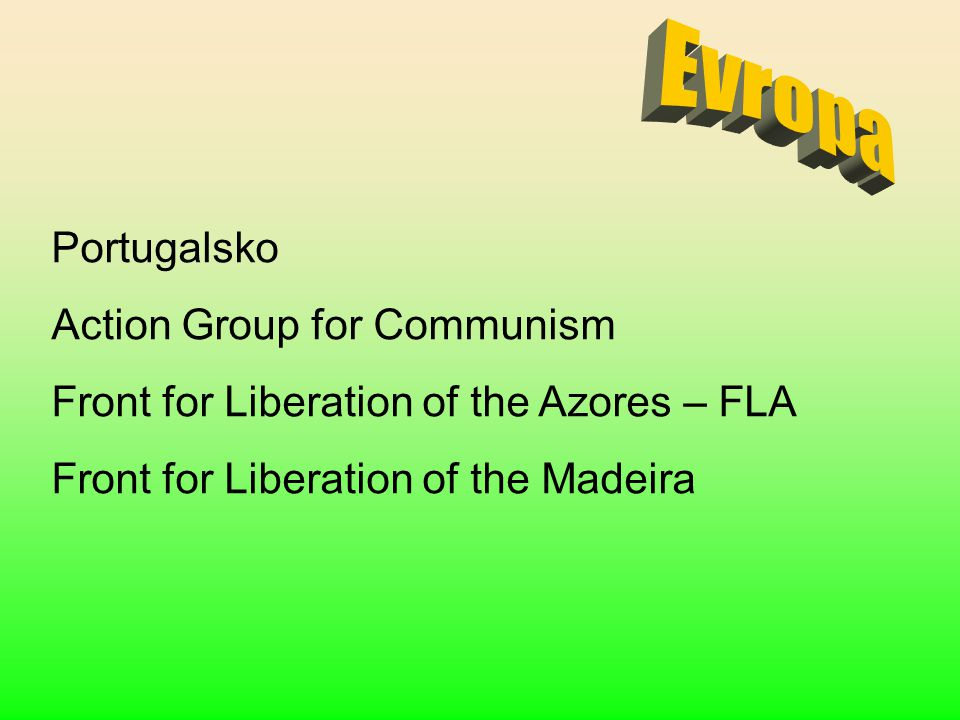 Evropa Portugalsko Action Group for Communism