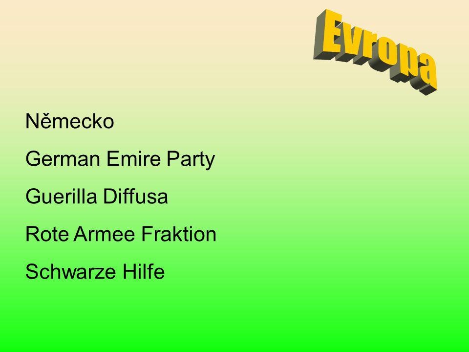 Evropa Německo German Emire Party Guerilla Diffusa Rote Armee Fraktion