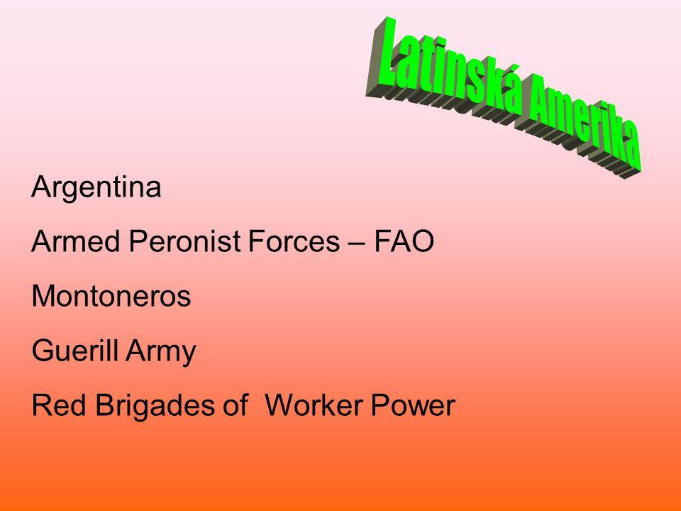 Latinská Amerika Argentina Armed Peronist Forces – FAO Montoneros