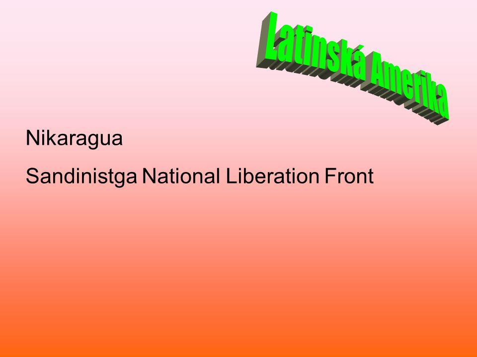 Latinská Amerika Nikaragua Sandinistga National Liberation Front