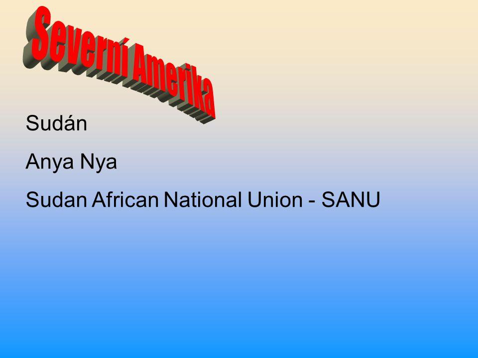 Severní Amerika Sudán Anya Nya Sudan African National Union - SANU