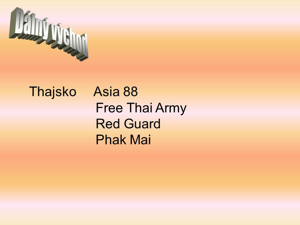 Dálný východ Thajsko Asia 88 Free Thai Army Red Guard Phak Mai