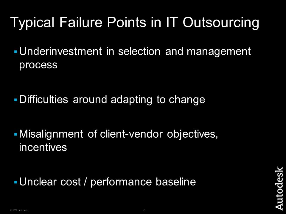 Typical Failure Points in IT Outsourcing
