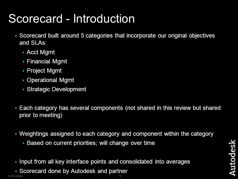 Scorecard - Introduction
