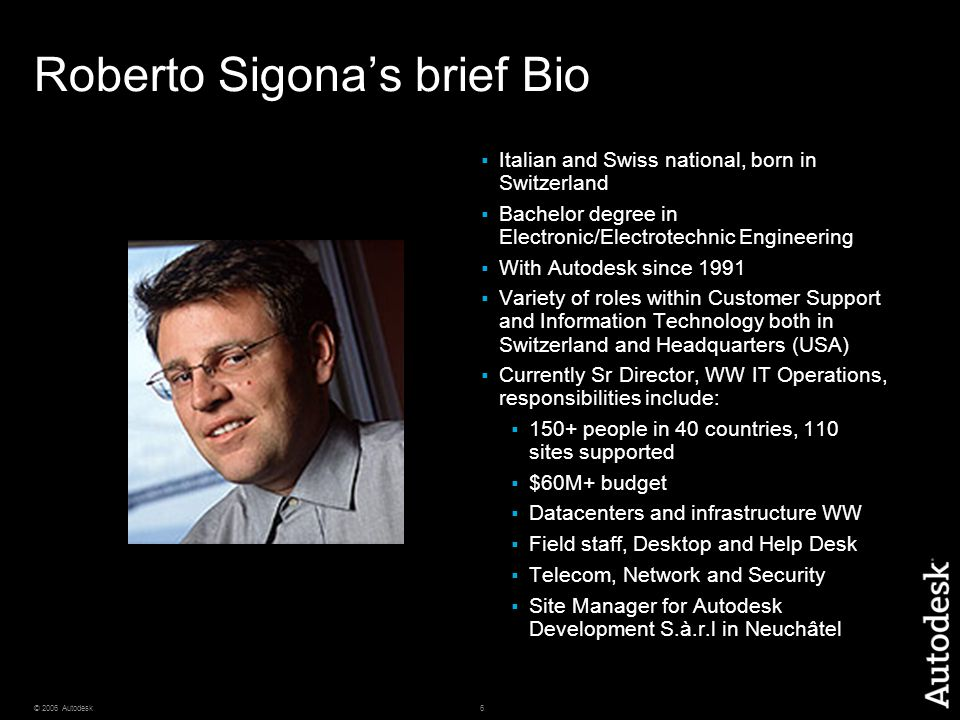Roberto Sigona's brief Bio