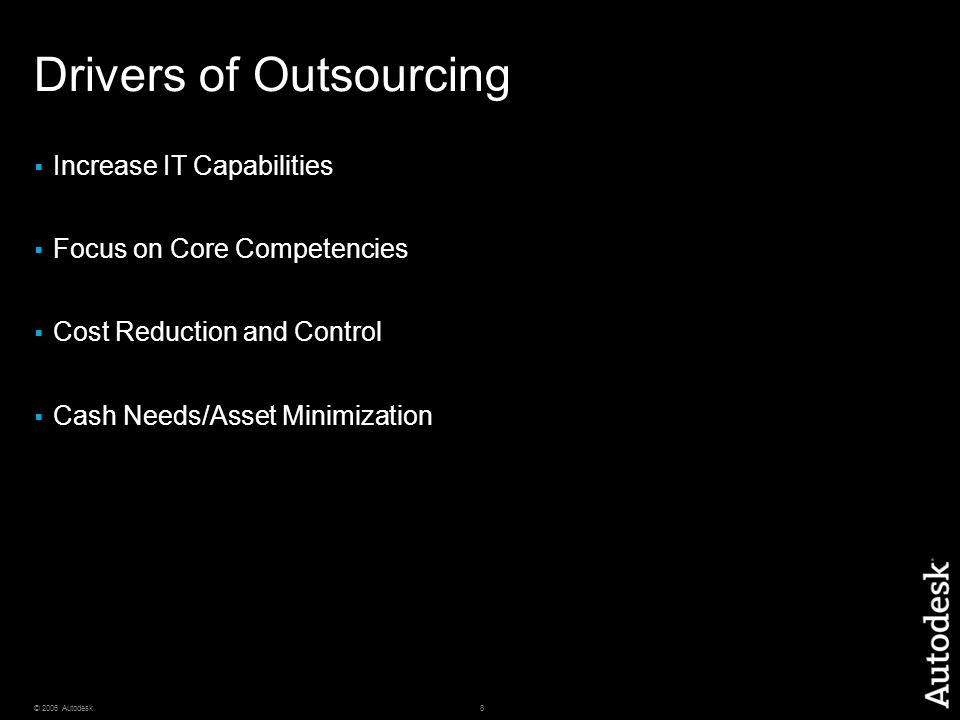 Drivers of Outsourcing