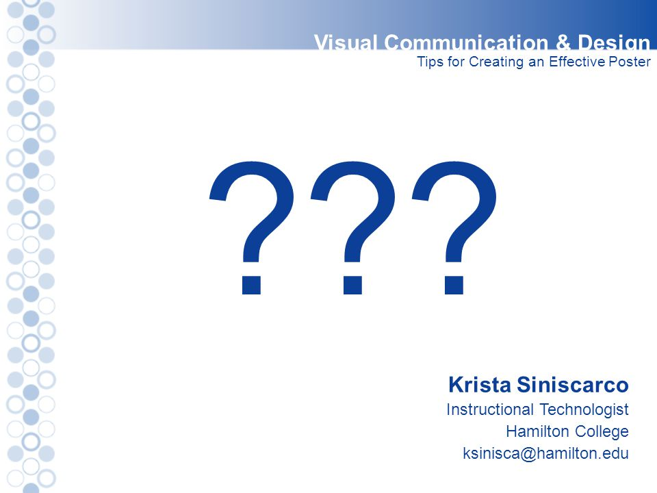 Visual Communication & Design Krista Siniscarco