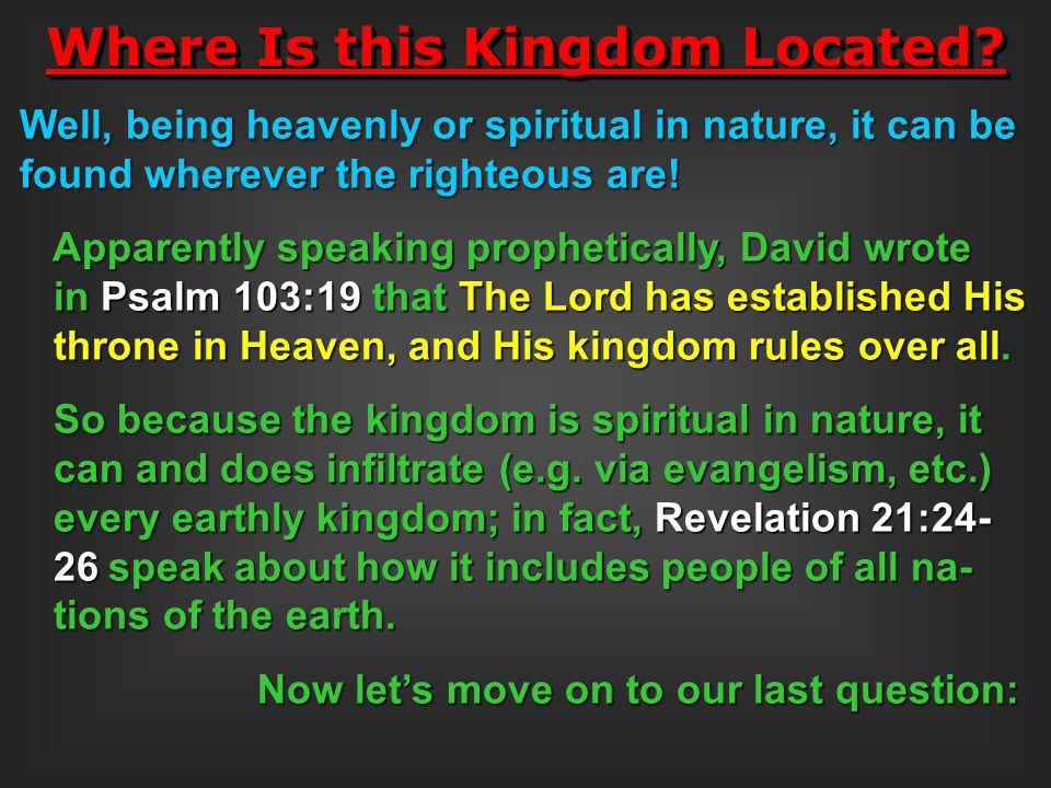 Where Is this Kingdom Located