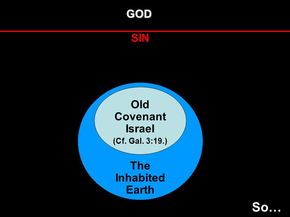 GOD SIN The InhabitedEarth Old Covenant Israel (Cf. Gal. 3:19.) So…