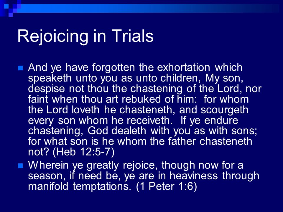 Rejoicing in Trials