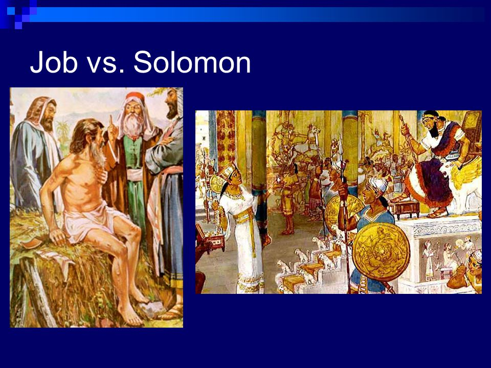 Job vs. Solomon