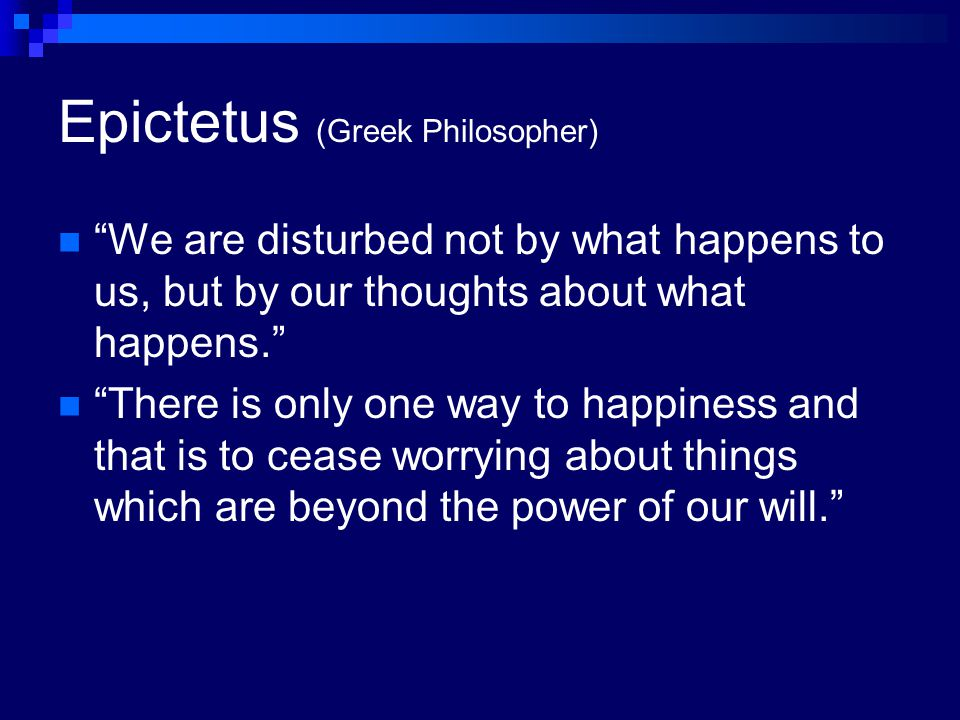 Epictetus (Greek Philosopher)