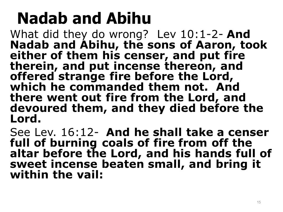 Nadab and Abihu