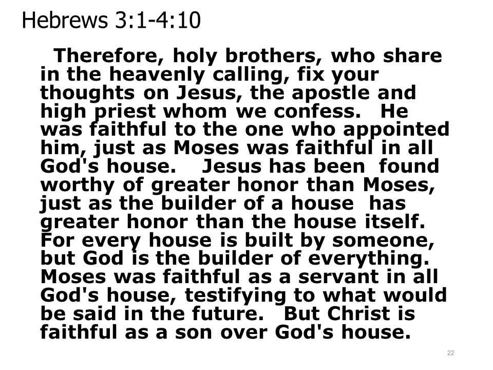 Hebrews 3:1-4:10