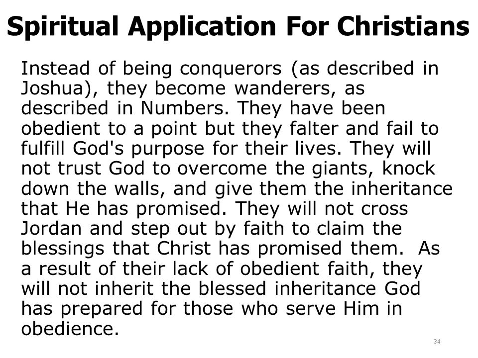 Spiritual Application For Christians