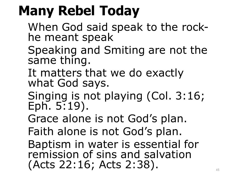 Many Rebel Today