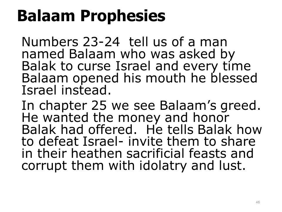 Balaam Prophesies