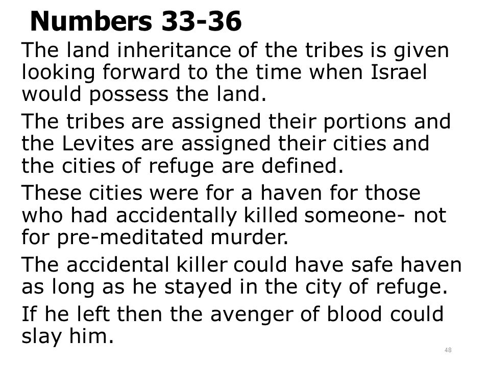 Numbers 33-36