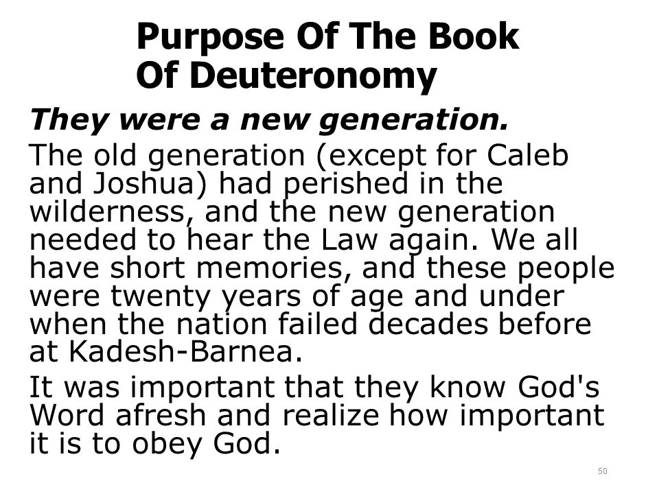 Purpose Of The Book Of Deuteronomy