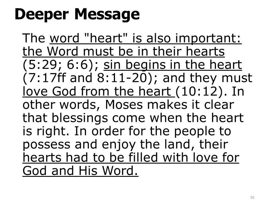 Deeper Message