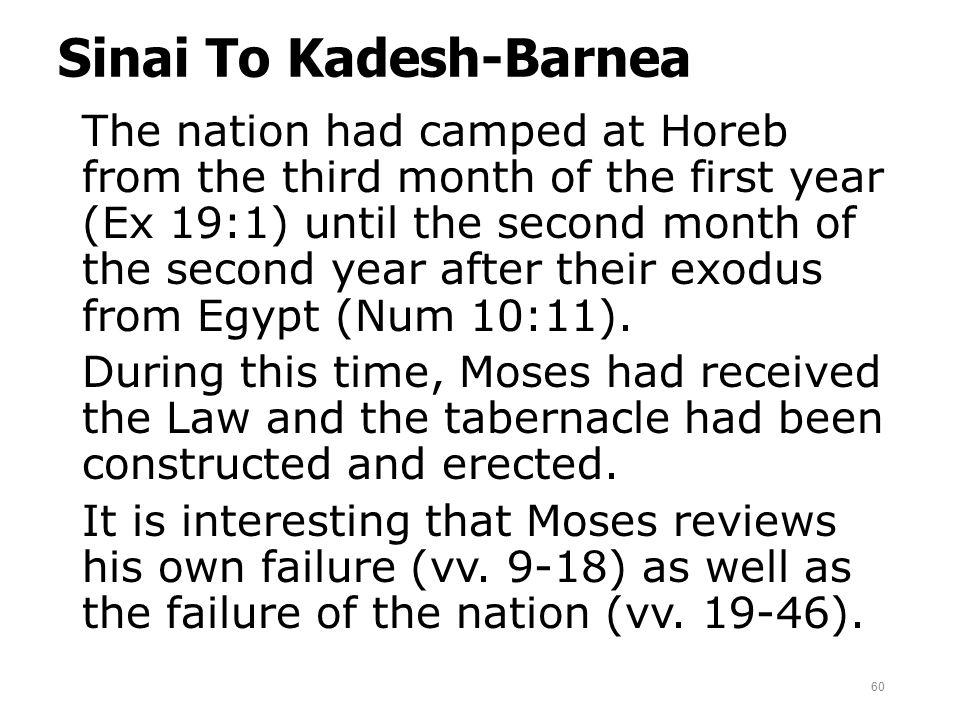 Sinai To Kadesh-Barnea