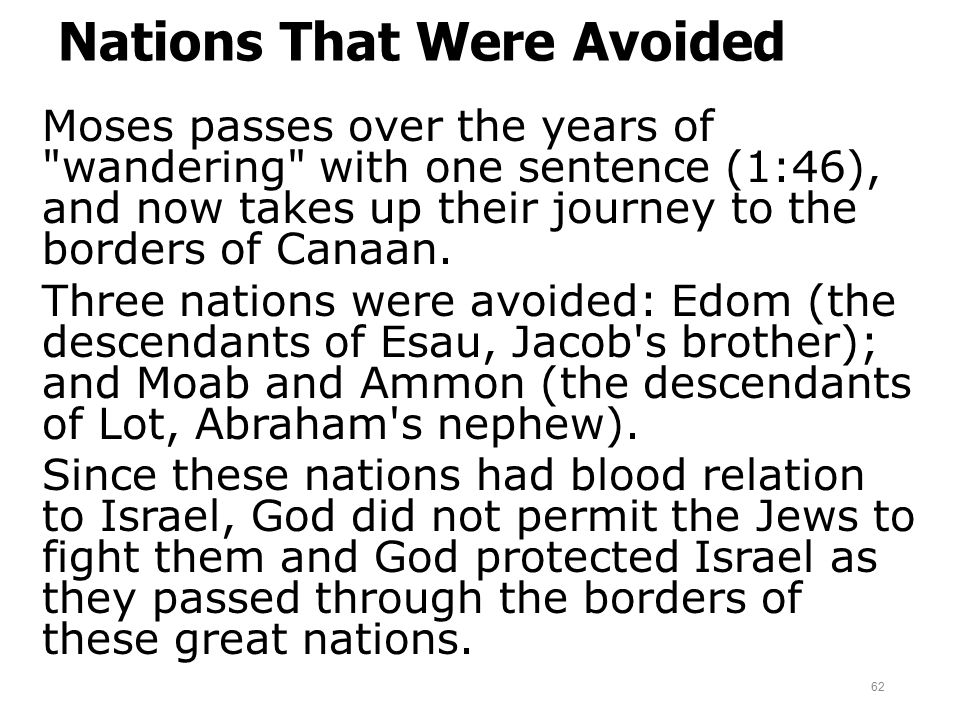 Nations That Were Avoided