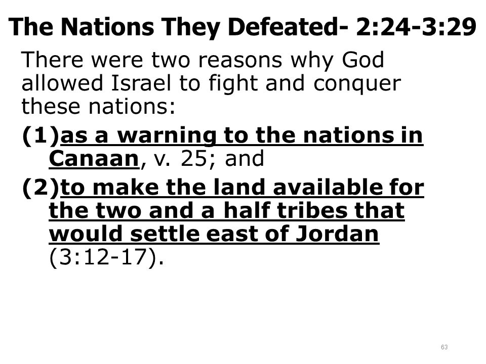 The Nations They Defeated- 2:24-3:29