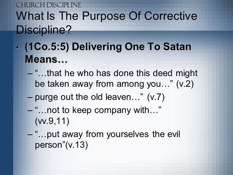 What Is The Purpose Of Corrective Discipline