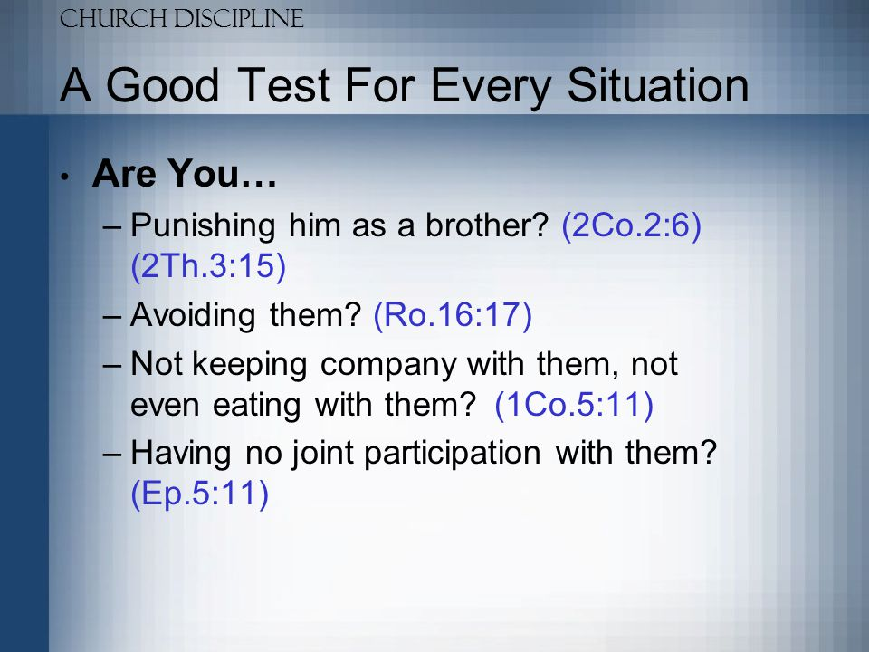 A Good Test For Every Situation