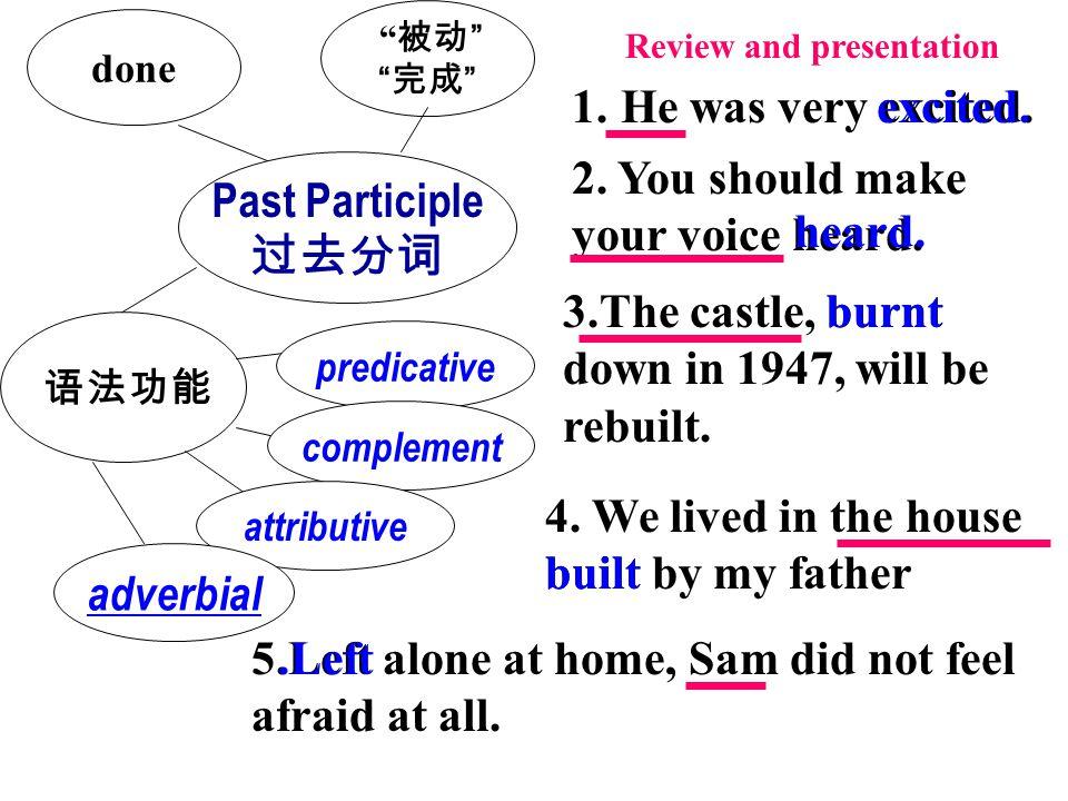 Past Participle 过去分词 adverbial